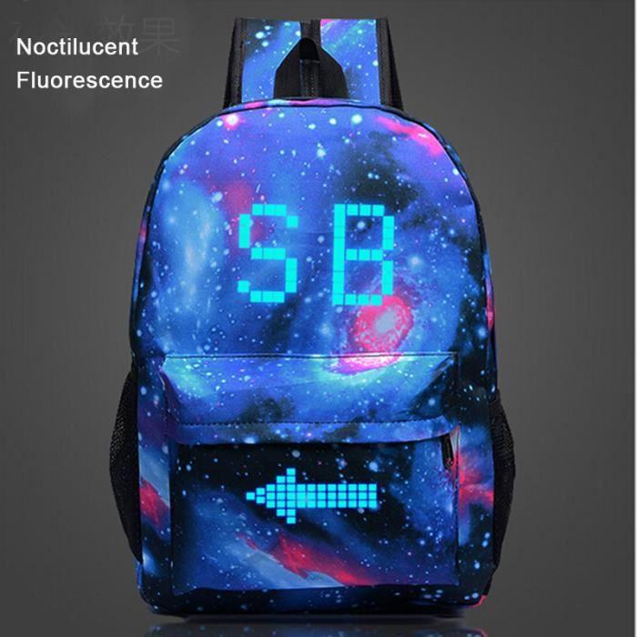 SB-Sac à dos Noctilucent Fluorescence-cartable-cadeau Noël anniversaire pour fils et fille,blague cadeau petit ami-sac d'école