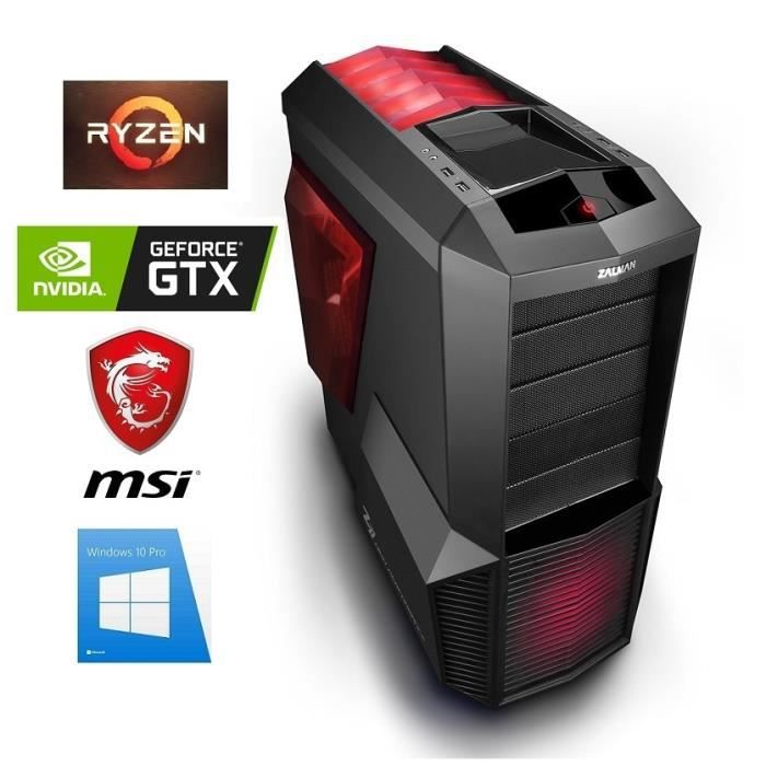 UNITÉ CENTRALE  PC Gamer Ryzen 5 2600 - GeForce GTX 1060 6GO - 16G