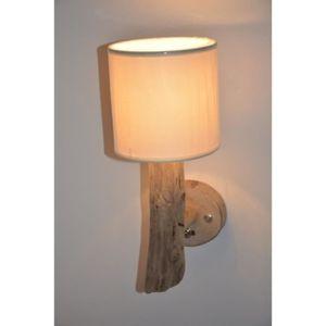 lampes en bois flotte achat vente lampes en bois flotte pas cher soldes d s le 10 janvier. Black Bedroom Furniture Sets. Home Design Ideas