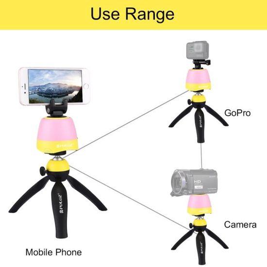 Trépied pour Smartphones GoPro Appareils photo reflex numériques Jaune  Électronique 360   Degrés Rotation Tête Panoramique + + - Achat   Vente  trépied - ... 58f669e50786