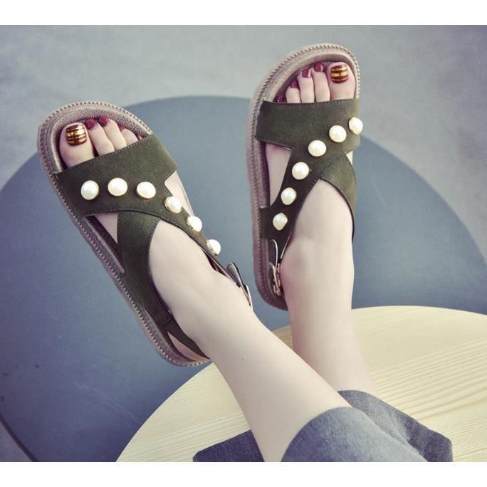 Femme été loisirs et loisirs sandales pompes