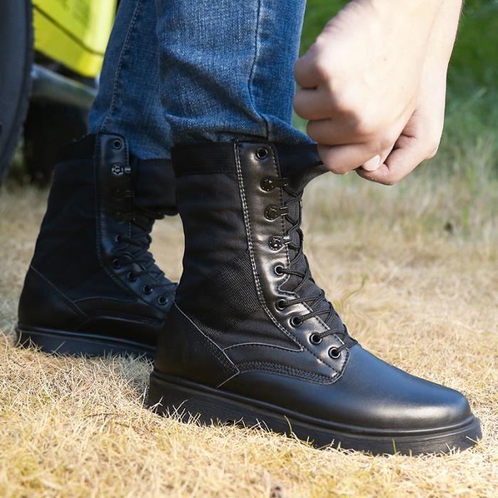 Bottes Homme Bottes en cuir Bottes courtes Bottes avec coton Bottes pour l'hiver Chaussures étanches Bottes mode Chaussures fz4W3PG9