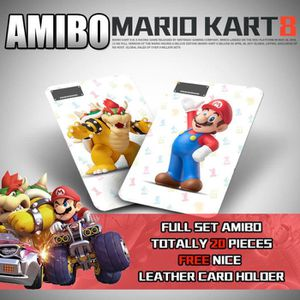 CARTE A COLLECTIONNER 20 Full Set NFC PVC Tag Card Mario Kart 8 for Nint