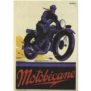 TABLEAU - TOILE PLAQUE METAL 40X30cm PUB RETRO MOTO MOTOBECANE
