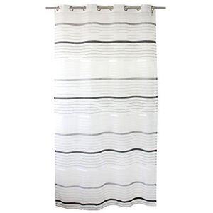 rideau voilage noir et blanc achat vente rideau voilage noir et blanc pas cher cdiscount. Black Bedroom Furniture Sets. Home Design Ideas