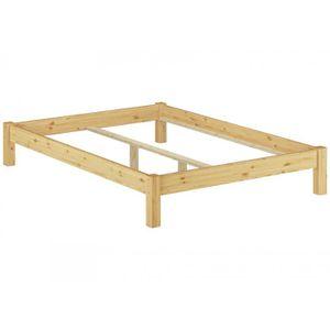 STRUCTURE DE LIT 60.35-14oR Cadre de lit futon pin massif naturel,