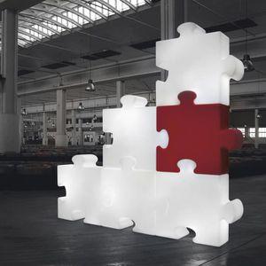 CLOISON AMOVIBLE Cloison design Puzzle à l'unité SLIDE Rouge