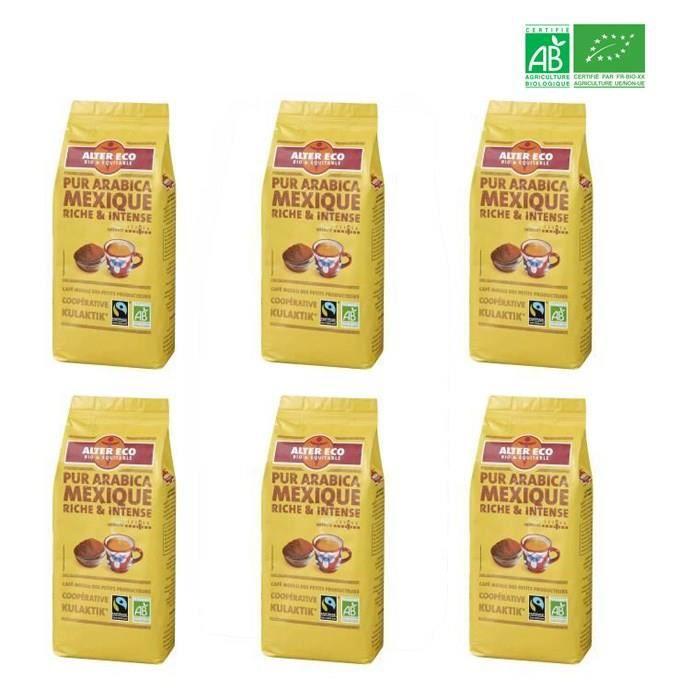 ALTER ECO Café mexique 100% arabica Bio 260g X6