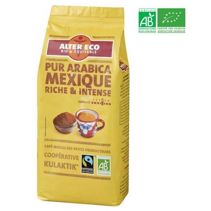 ALTER ECO Café mexique 100% arabica Bio 260g