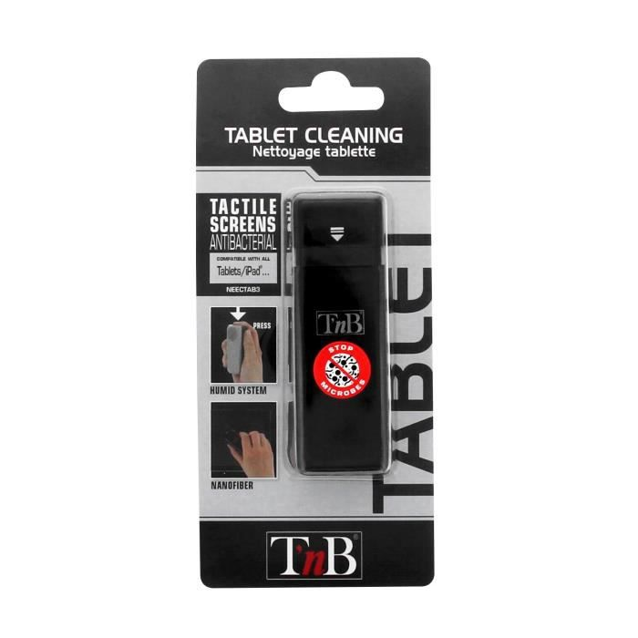 TNB Nettoyant anti poussière tablette 10 ml - neectab3 - tissu nanofibres intégré sur applicateur