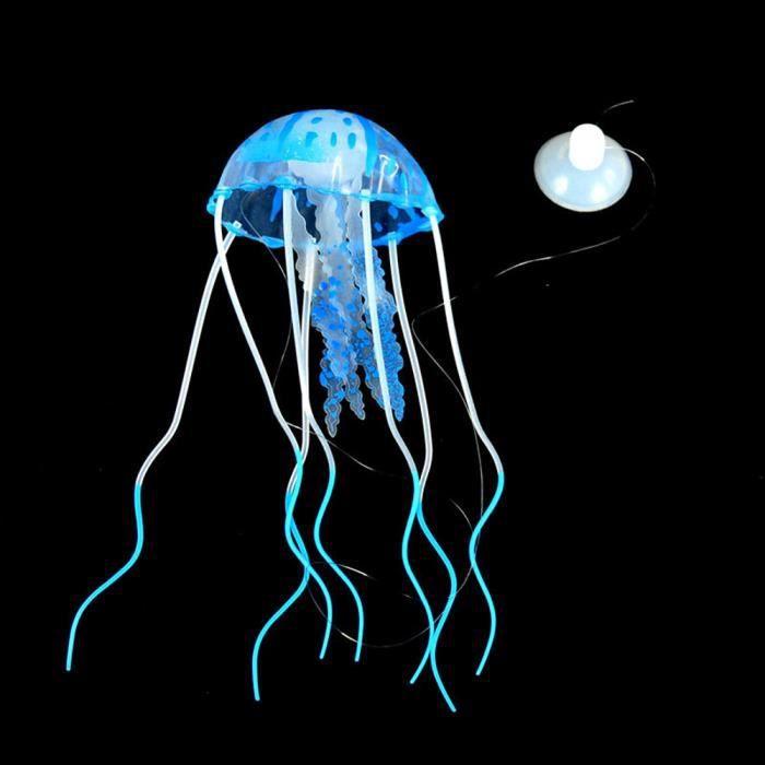 Aquarium Méduse Décoration Glowing Effet Fish Tank Ornement Artificiel_sous Meuble - Pied Pour Terrarium
