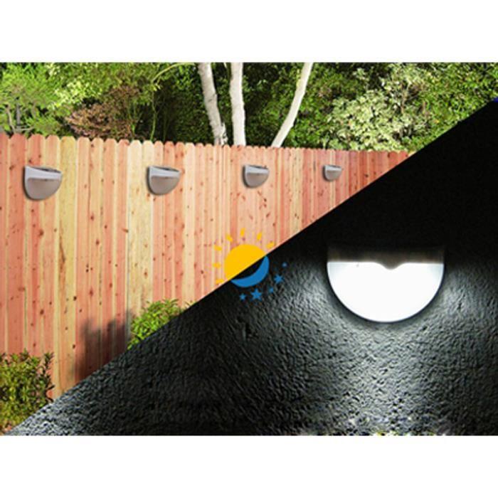 ext rieur mur de cl ture jardin lumi re commande solaire lampe led lumi re pw achat vente. Black Bedroom Furniture Sets. Home Design Ideas