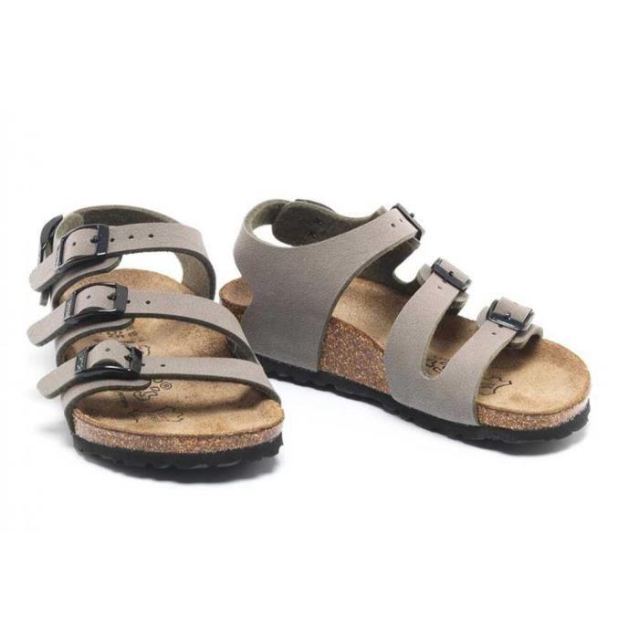 Sandales nu-pieds BIRKI'S Ellice Birko-Flor® Stone Enfant Pointure 34