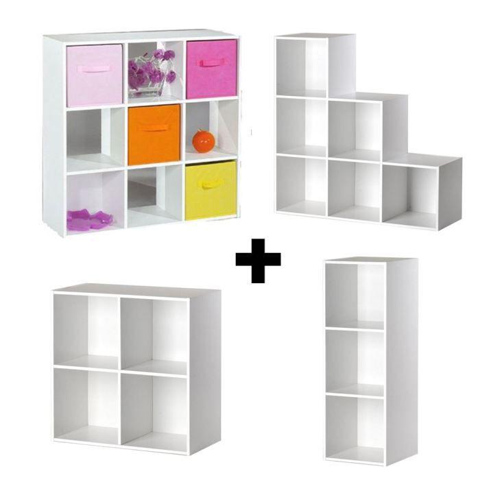 Lot de 4 meubles de rangement - Achat / Vente petit meuble rangement Lot de 4 meubles de ...