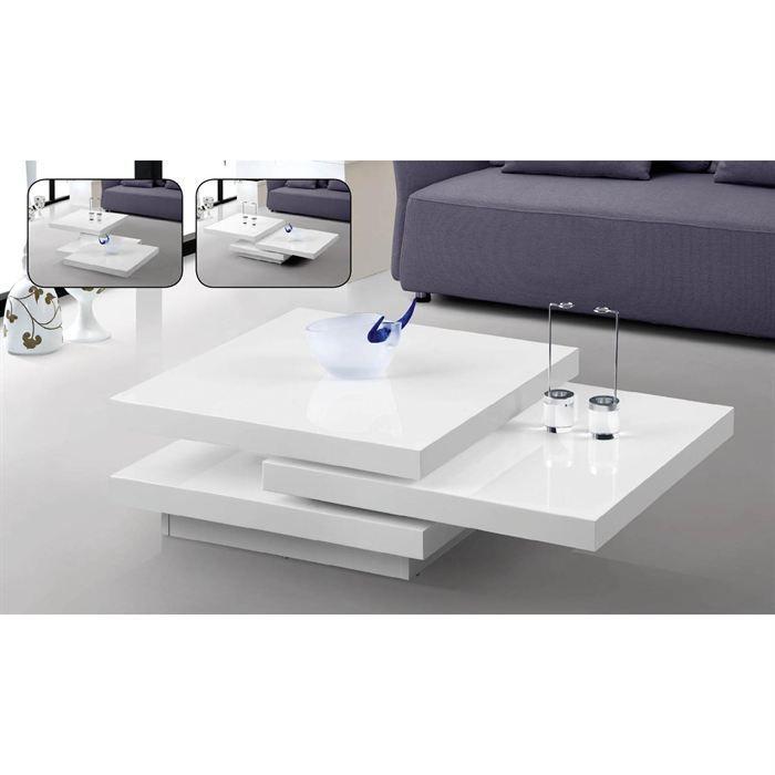 table basse laqu e blanc haute brillance rialto achat. Black Bedroom Furniture Sets. Home Design Ideas