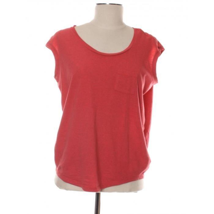 Haut BERENICE 34 Rouge en Coton Rouge Rouge - Achat   Vente t-shirt ... 9bd586431959