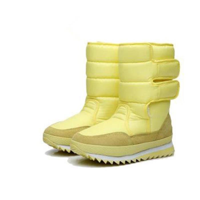 Hiver Bottes Chaud Bottes de Femmes chaussure bottines mode bottes de neige imperméables pluie Imperméables