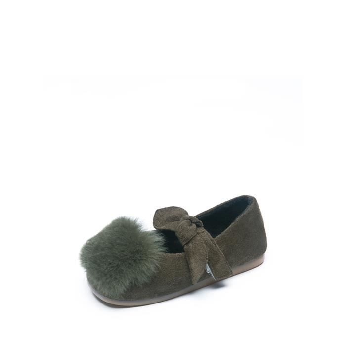 Doux Doug Chaussures Bow Tie Flat cheveux balle Comfy Chaussures fille 11695952
