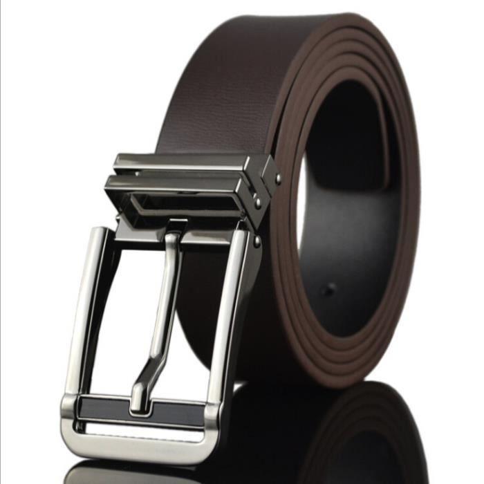 Ceinture en cuir à boucle ardillon pour hommes occasionnels Brown ... bd4b9f23975