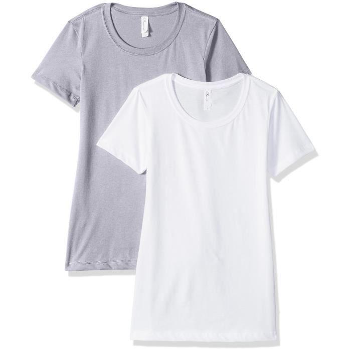 feeb100a16e05 t-shirt à manches courtes pour femmes 3-pack t-shirt à encolure ras du cou  et manches courtes (1510) WDU0Z Taille-38