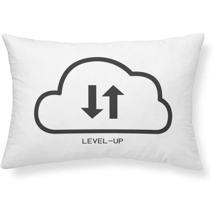 COUSSIN TODAY Coussin Geek Game Level-Up - 30 x 50 cm