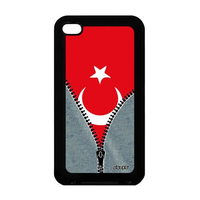 Coque silicone Apple iPod Touch 4 drapeau turquie turc jeux olympiques foot  jo a 6fd610b40cbe
