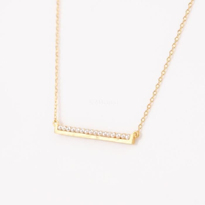 Craze Pearl Or Collier Bar
