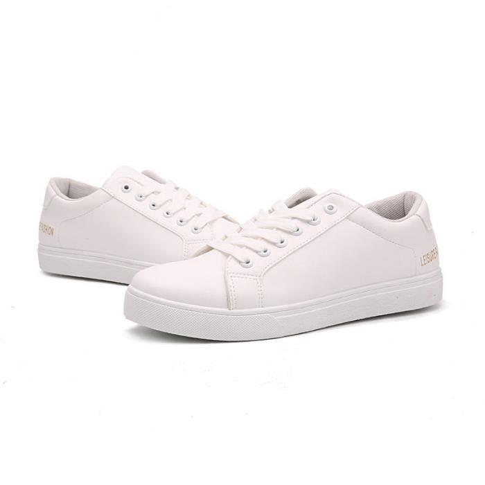 JOZSI Chaussures Homme Cuir Confortable mode Homme chaussure de ville BJYG-XZ210Blanc37