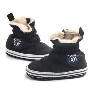 BOTTE Automne Hiver Nourrisson Bébé Garçon Semelle Souple Premier Walker Crib Chaussures Bottes de neige@GrisHM POxKIc3