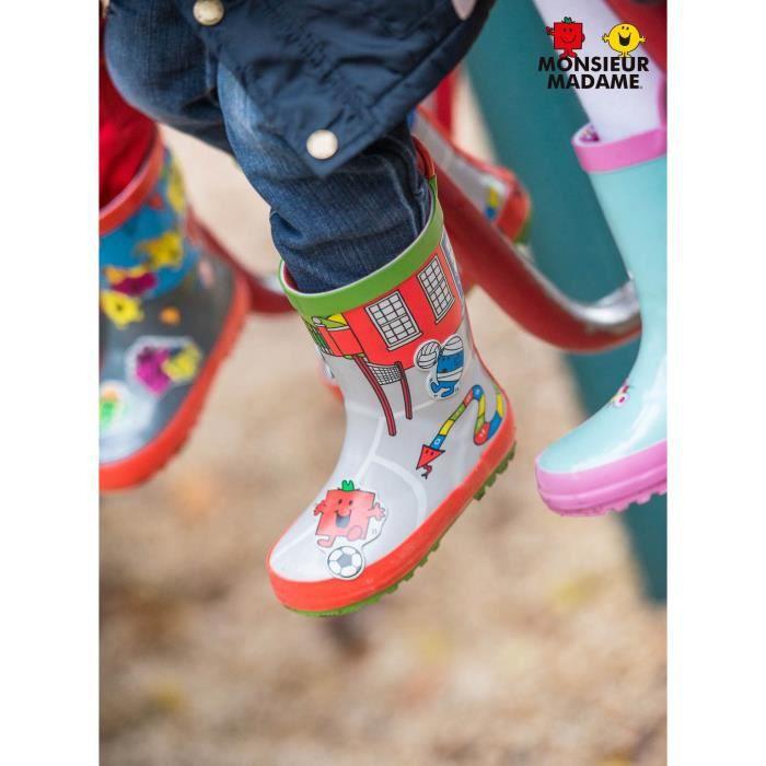 MR MME Bottes de pluie School - Enfant Mixte - Multicolore
