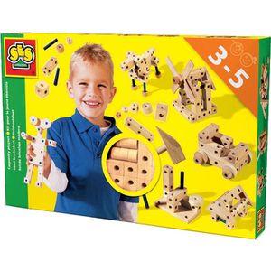 SES CREATIVE Kit pour le jeune ébéniste - Jeu de construction de jouets - Bois