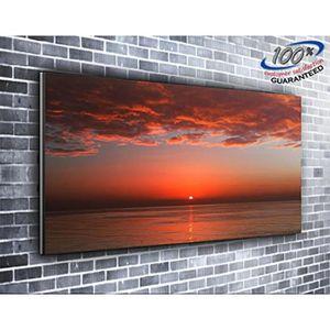 TABLEAU - TOILE Sanglante Sunset Nature toile impression photo pan