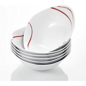 BOL - MUG - MAZAGRAN Malacasa Série FELISA 6pcs Bols Porcelaine Bol à C