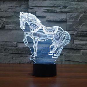 LAMPE A POSER Cadeau d'anniversaire pour enfants Cheval 3D en fo