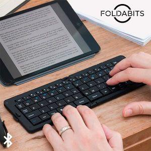 CLAVIER D'ORDINATEUR Clavier Bluetooth pliable Foldabits