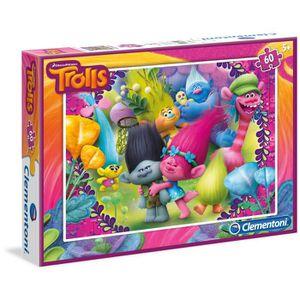 PUZZLE Trolls–Puzzle 60pièces (Clementoni 08422)