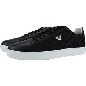 BASKET Armani Jeans Chaussure Noir Homme en cuir avec toi