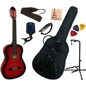 PACK INSTRUMENTS CORDES Pack Guitare Classique 4-4 (Adulte) Avec 7 Accesso