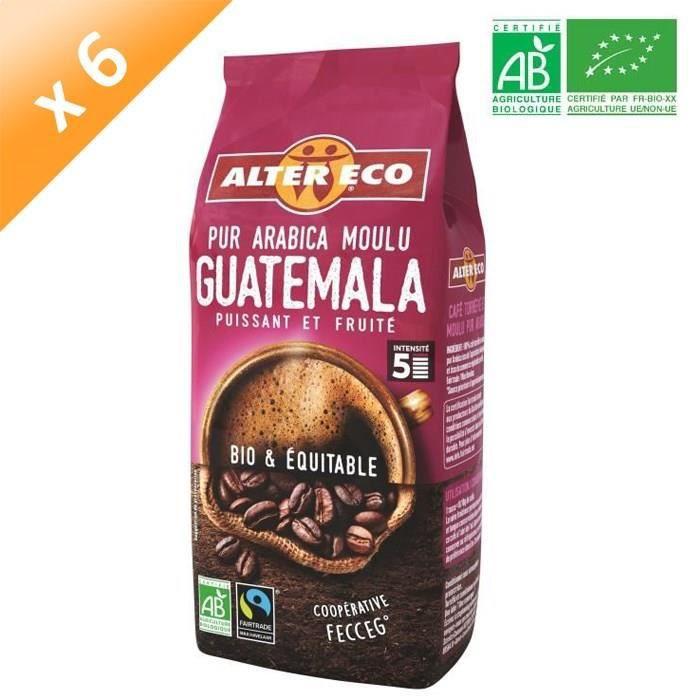 ALTER ECO Café Guatemala 100% Arabica Bio 260g X6