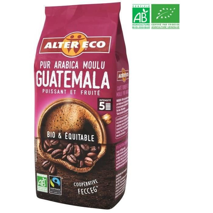 ALTER ECO Café Guatemala - 100% Arabica - Bio - 260 g