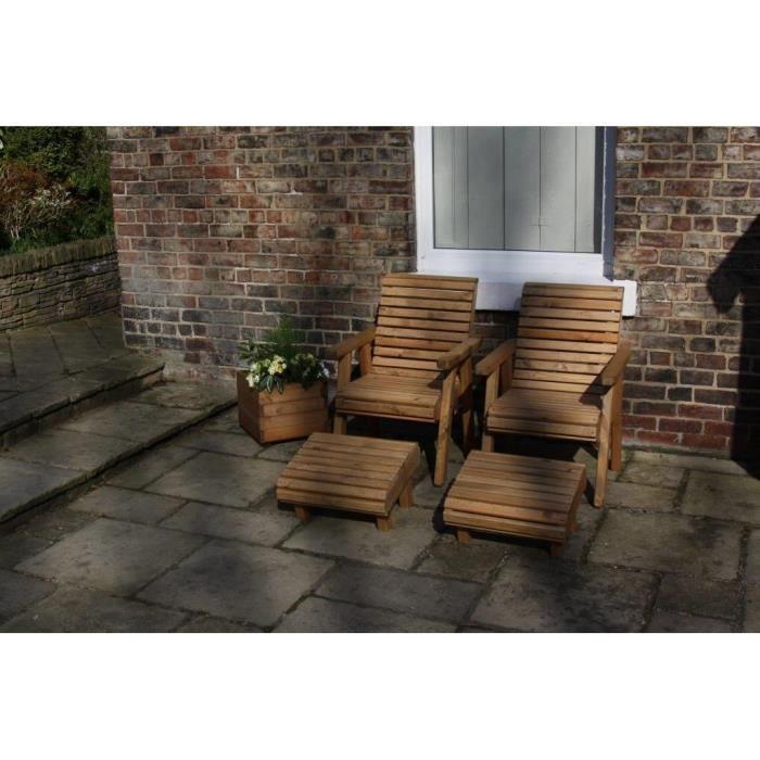 Paire Chaise longue en bois pour le jardin des chaises à dossier haut haut  du rouleau en bois massif e3310c3dec67