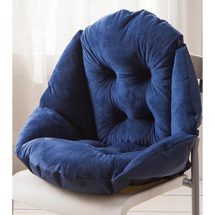 Chaise Dossier Pour Foncé Forme De Bleu Fauteuil Coquille Coussin Jardin Velours Avec Pad Douillet YW9eEIDH2