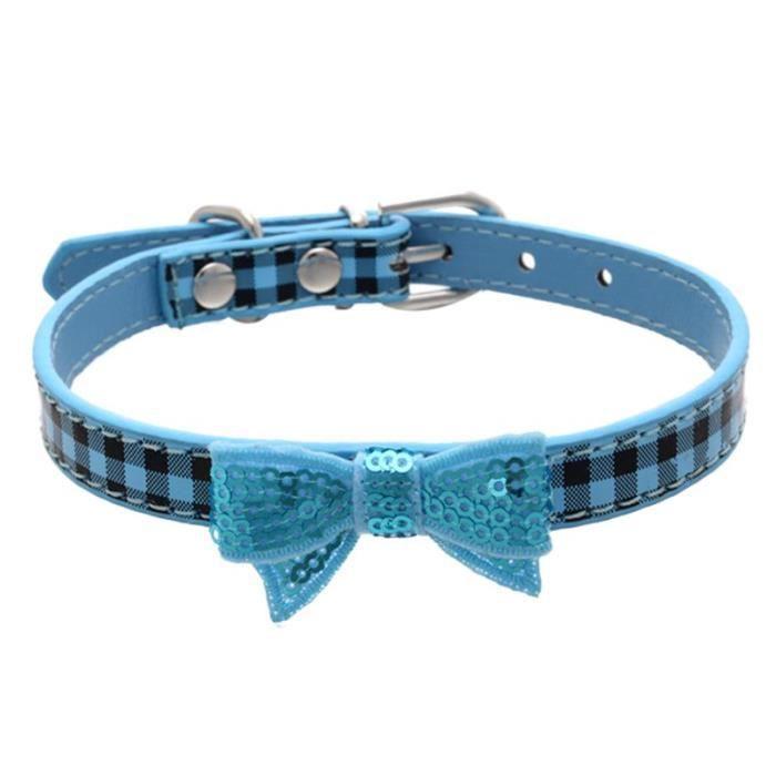 Collier Pour Chien Puppy Choker Chat Bleu - Xs@hxq255