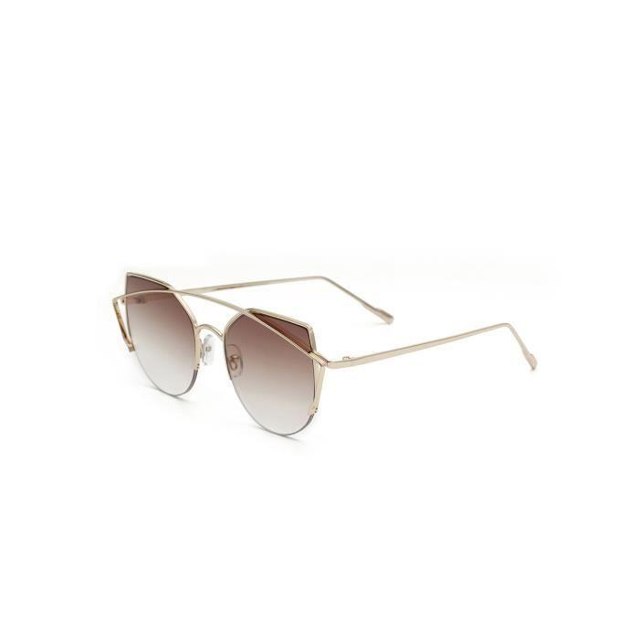 Lunettes de soleil Double Pont de la Femme Cat Eye Design Trendy  Accessoires 1066 4a4d99f732b7