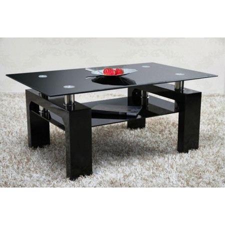 Table Basse Design Arcadya Laqué Noirnoir Achat Vente Table
