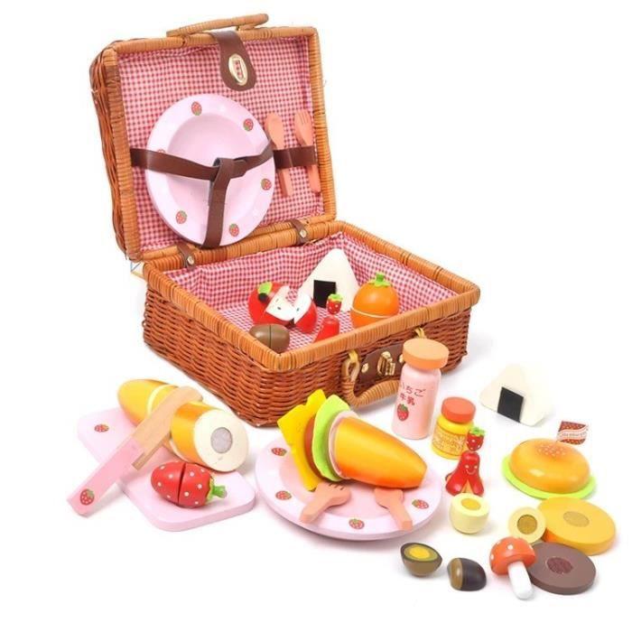 b b jouets m re jardin fraise panier pique nique mis jouets en bois en rotin panier. Black Bedroom Furniture Sets. Home Design Ideas