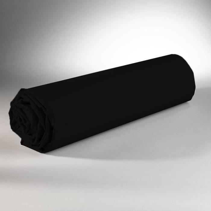 drap housse 160x200 noir - achat / vente drap housse 160x200 noir