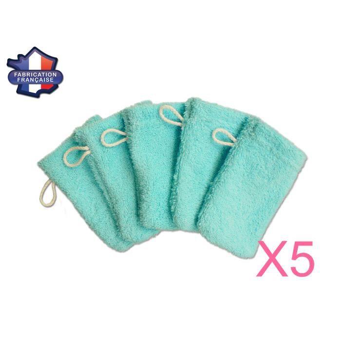 ... d apprentissage pour bébé enfant Turquoise. EPONGE DE BAIN MODULIT  Lot  de 5 petits gants de toilette d appre 02e5380b9ad