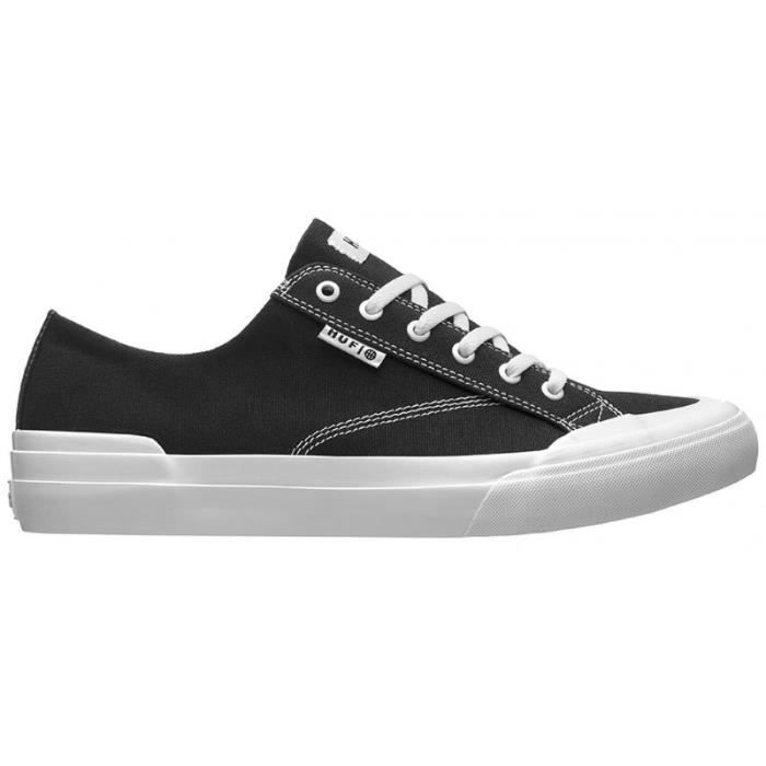 CHAUSSURES HUF CLASSIC LO ESS TX NOIRES amp; BLANCHES skateshoes