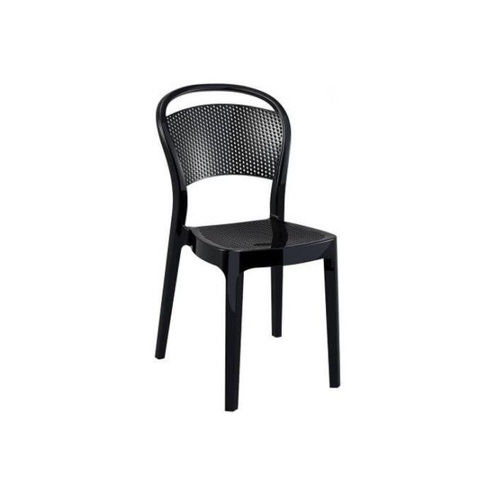 Chaise Design Noire Laquée Soubi Achat Vente Chaise Noir Cdiscount